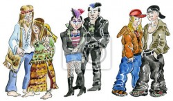 set of hippie punk and rock teens characters 400 27474671